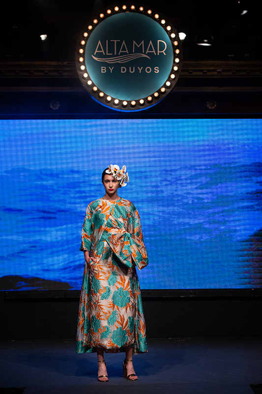 MADRID, SPAIN - MAY 29: A model is seen at the runway during Alta Mar Fashion Show by Duyos and Netflix at Teatro Gran Maestre on May 29, 2019 in Madrid, Spain. (Photo by Pablo Cuadra/Getty Images for Netflix)